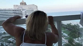 Fucking On Our Hotel Balcony In Miami