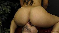 Mean Latina Girlfriend Makes Her SlaveBoy Worship Feet & Ass - Femdom