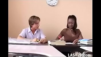 Teacher Midori fucks her white student after class