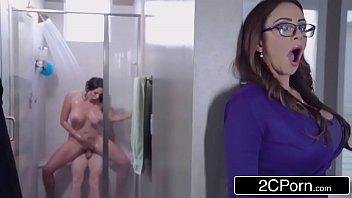 Stepmom And Her Sister Fight Over Big Cock - Ariella Ferrera, Missy Martinez