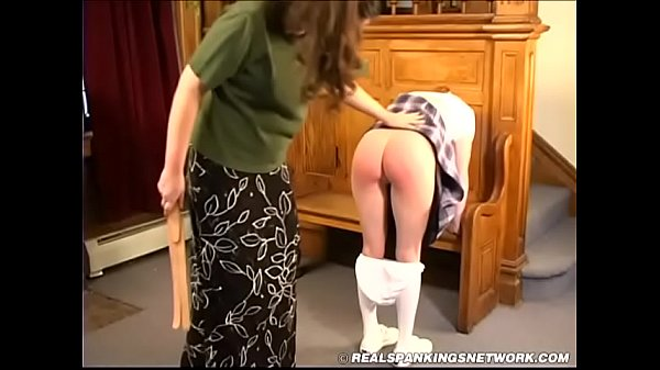 Spanked in the foyer 1