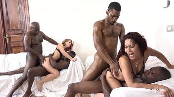 Sasha Zima & Dana Santo - two whores going crazy for big black cock