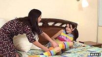 WANKZ- Amber And Trenina Lez Out In Knee High Socks