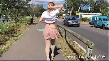 Flashing my body in public with a buttplug
