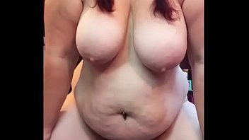 Chunky Milf With Big Tits Fucking her Dildo