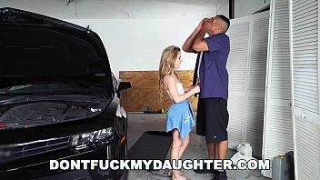 18yo Teen Lilly Ford Fucks Daddy's Mechanic Friend (dfmd15754) 12 min