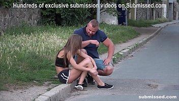 Struggling Babe Sarah Kay street pickup gagged subb'ed fuckd 6 min
