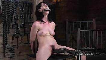 Submitted babe rides toy and sybian