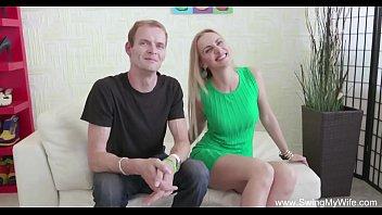 Blonde Swinger Wife Is So Happy