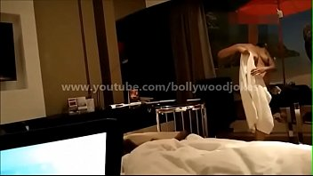 Newly wed Indian Wife desi dare in hotel enf Towel drop teasing room service boy