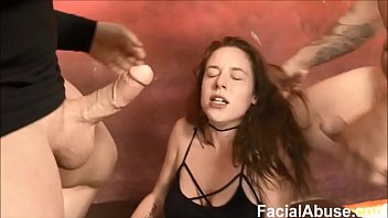 Floppy Titted Hippy face fucked and degraded