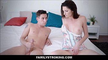 Hot Big Tits MILF Step Mom Fucks Masturbating Son