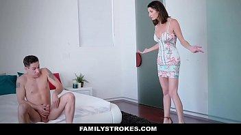 FamilyStrokes - Watching her (Silvia Saige) stepson masturbate