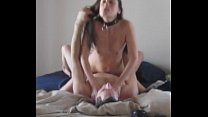 Two Orgasms with collar smalltits gfs 2 min