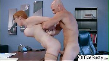 Big Round Tits Girl (Lauren Phillips) Enjoy Hard Intercorse In Office mov-16