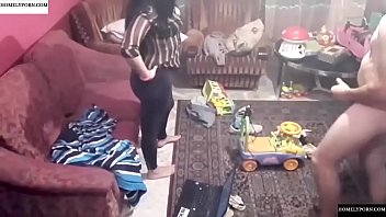 Spy camera records couple fucking in the living room 25 min