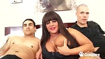PAWG Cassie Blanca Bangs 2 Cocks Doggystyle