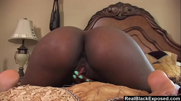 RealBlackExposed - Sierra Banxxx playing with her pussy