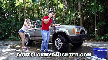 DON'T FUCK MY DAUGHTER - Naughty Sierra Nicole Fucks The Carwash Man 12 min