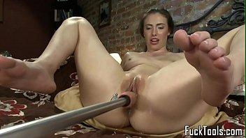 Masturbating amateur squirts getting toyed