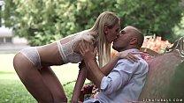 Garden anal sex with Afina Kisser