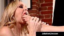 Hottest Milf Julia Ann & Kimberly Kane Worship Their Feet!