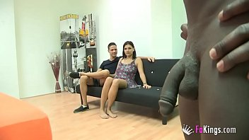 Vivi is just 18 but wants to try her first interracial threesome