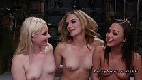 Threesome lezdom anal fisting and toying