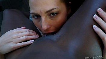 Interracial lesbian couple -  Roxy Rox and Ana Foxxx 5 min