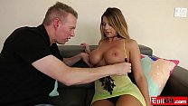 Escort MILF with huge tits takes it in the ass too