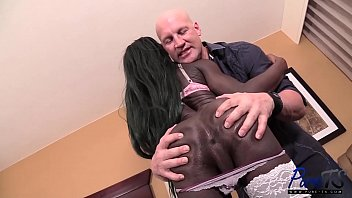 black barbie Bambi is back for more cock