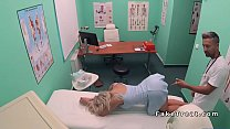 Big ass blonde patient bangs doctor