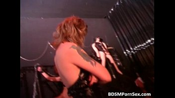 Naked guy is caught in BDSM play where