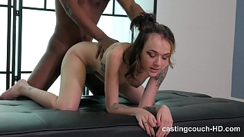 Nasty tattooed club chick takes on her first monster black dick