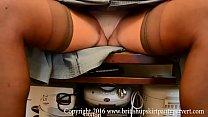 Mature Upskirt showing her tight Pink panties