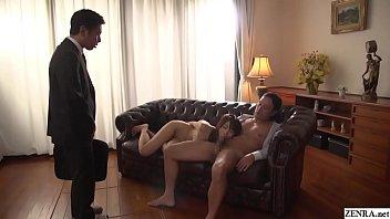 Cuckolding JAV blowjob wife Saki Hatsumi Subtitled