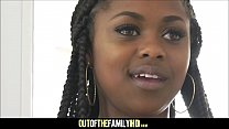Cute Petite Black Stepdaughter Amilian Kush Fucked By White Stepdad