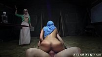 Arab cuckold and muslim girl dance Sneaking in the Base! 5 min