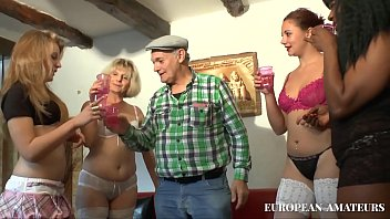 An old man with 4 girls 41 min