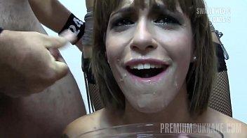 Premium Bukkake - Silvana swallows 65 huge mouthful cumshots 10 min