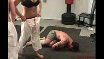 b. And Sadistic Double Gi Beatdown with Cindy & Mikaela