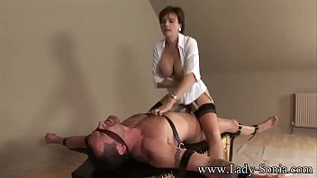 Lady Sonia Strapped Down And Fucked Hard