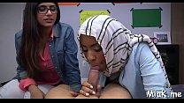 Hardcore threesome with arab slut