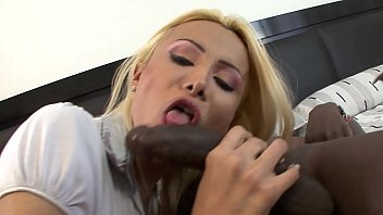 Black ebony cock it's too big for this shemale! 24 min