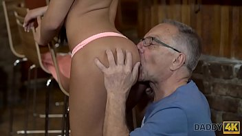 DADDY4K. Can you trust your girlfriend leaving her alone with your father?