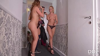 After Party blowjob Threesome with Cherry Kiss & Ani Blackfox