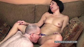 Horny housewife Cleo Leroux is getting nailed by a geek