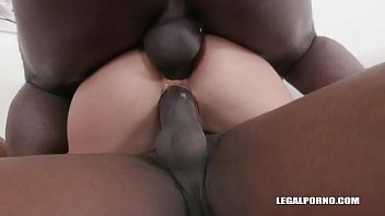 Cherry Kiss & Milena Love Fucked like Hell by 3 Black Monster Cocks