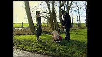 Young girl kept on a leash like an a. and humiliated