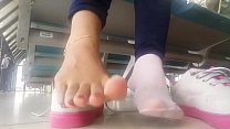 Cams4free.net - Removing Shoes in Public Bare Feet
